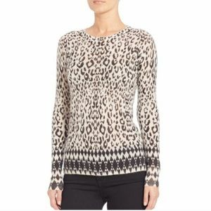 Rebecca Taylor mohair animal print sweater